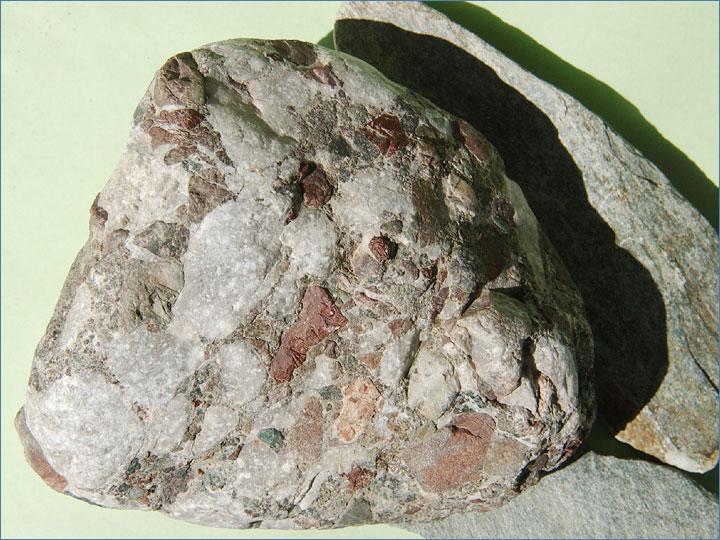 礫岩(れきがん) 【礫岩(れきがん)】岩石図鑑・アルバム 【礫岩(れきがん)】・写真火山岩(かざ